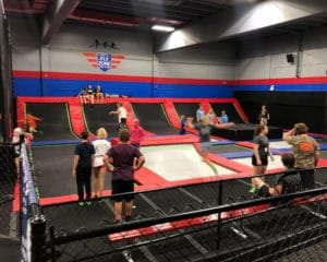 Kids jumping at the Fly Zone.