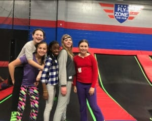 Happy kids at the Fly Zone.