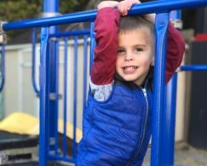 Jumping Monkeys child on the playground.