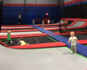 Jumping Monkeys kids at the Fly Zone.