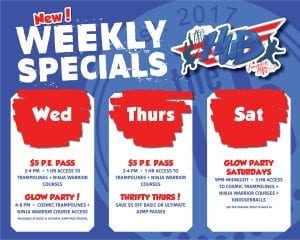 New Weekly Specials in September